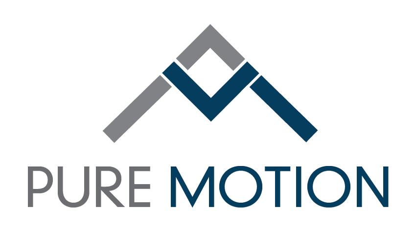 logo and website design for Pure Motion, fitness