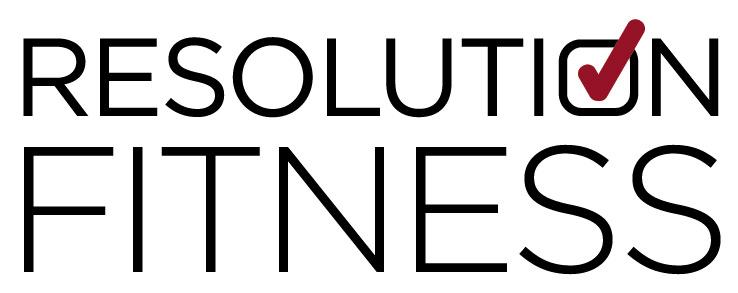 logo and website design for Resolution Fitness