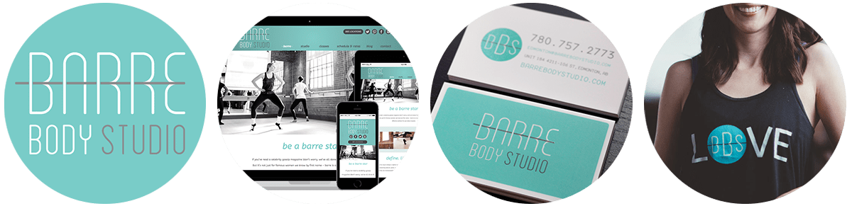 Marketing, Website Design, Logo Design for Barre Body Studio