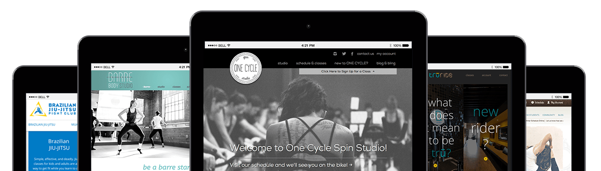 creative fit website design brand identity fitness studios