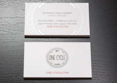 Brand Identity (business cards) Design for One Cycle Spin Studio