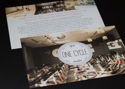 Flyer Design for One Cycle Spin Studio