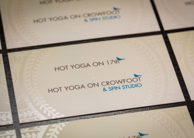 Business Cards Design for Hot Yoga on 17th