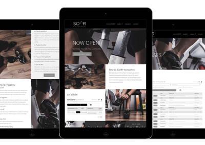 Website Design for Soar Cycle Studio (aka spin studio)