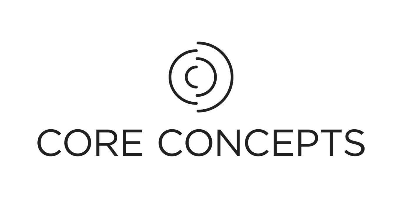 logo and website design for Core Concepts, fitness