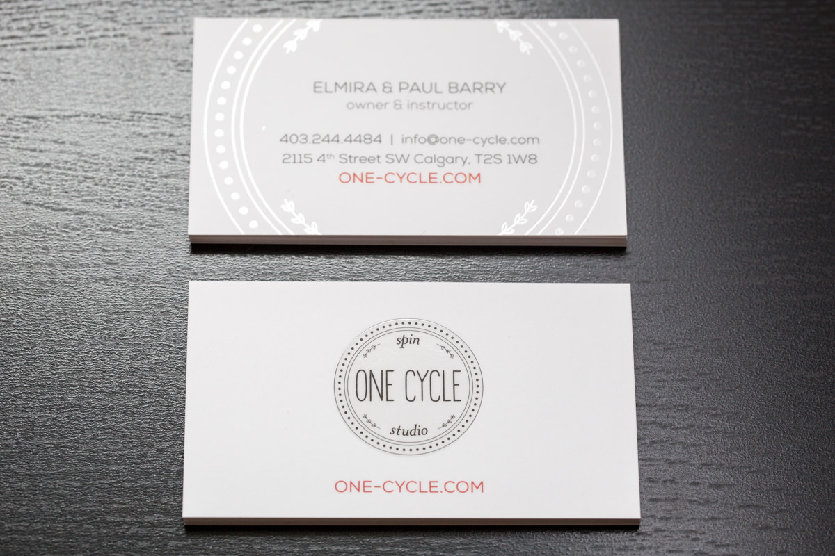 Brand identity business cards design for one cycle spin studio brand identity business cards design for one cycle spin studio reheart Gallery