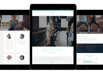 Responsive Website for Barre Body Studio