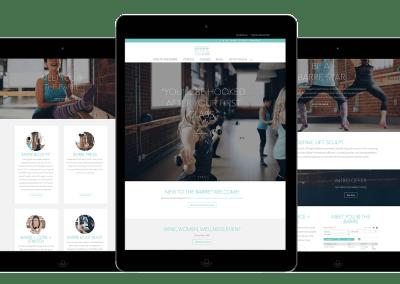 Responsive Website for Barre Body Studio